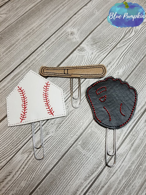 Baseball Paper Clip Toppers