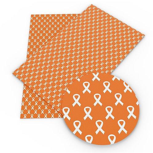 Orange Awareness Ribbon Embroidery Vinyl