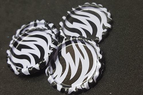 Zebra Print Bottle Cap