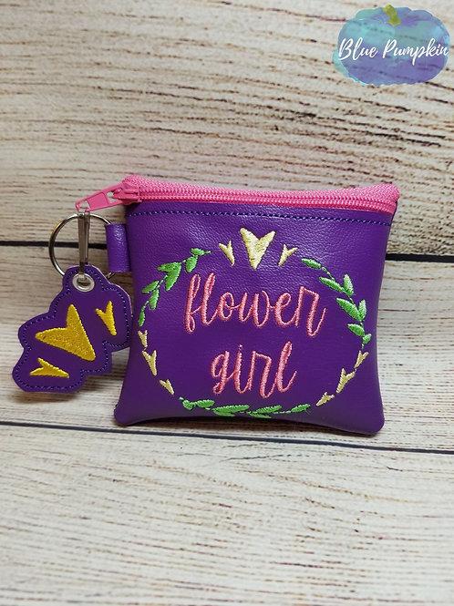 Flower Girl ITH Zipper Bag Design