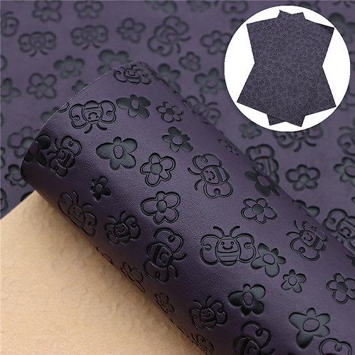 Deep Purple with bee embossed Embroidery Vinyl