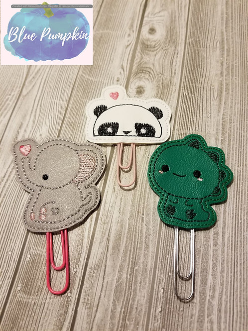 Animal Paper Clip Toppers