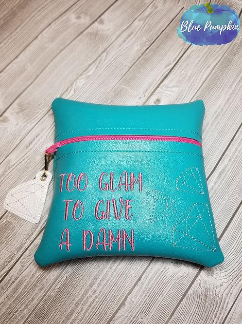 6x6 Too Glam  ITH Zipper Bag Design