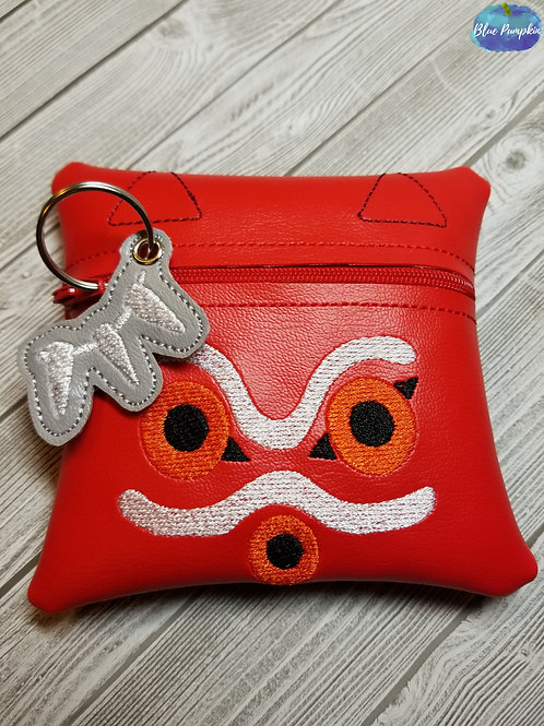 Princess Mononoke Zipper Bag Design 5x5