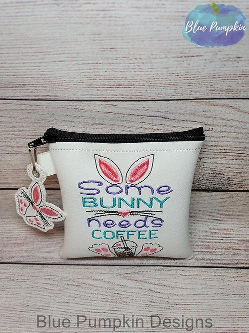 3 sizes Some Bunny Needs Coffee Zipper Bag Design