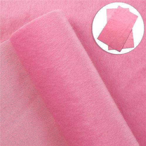Pink Short hair Embroidery Vinyl