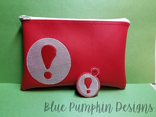 AC Exclamation Point ITH Zipper Bag Design