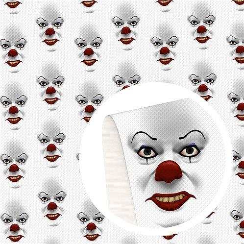 Clown Faces Print Embroidery Vinyl