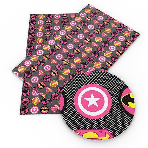 Pink Heroes Print Embroidery Vinyl