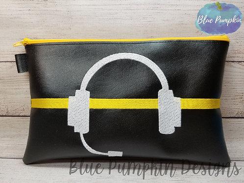 8x12 911 Dispatcher ITH Zipper Bag Design