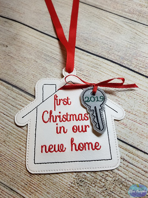 5x7 Our First Home Ornament Design