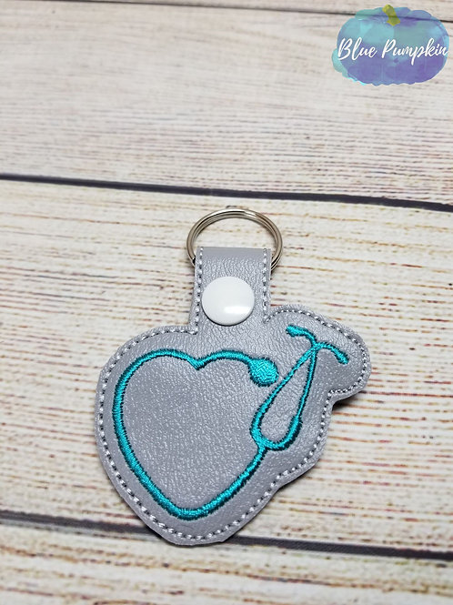 Heart Stethoscope Key Fob