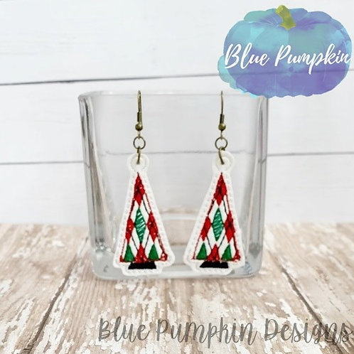 Argyle Tree Earrings