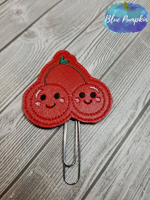 Cherries Paper Clip Toppers