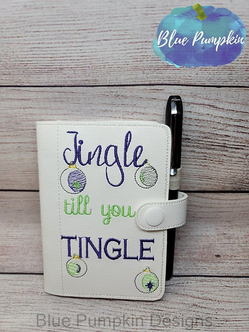 5x7 Jingle till you Tingle Mini Comp ITH Notebook Cover