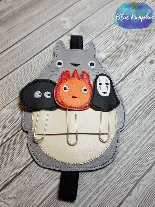 COMBO Ghibli Clip Toppers and Totoro Planner Band
