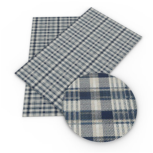 Light Gray Green Plaid Embroidery Vinyl