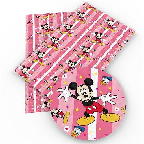 Pink Stripe Duck Embroidery Vinyl
