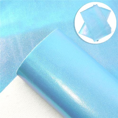 Blue Iridescent  Print Embroidery Vinyl