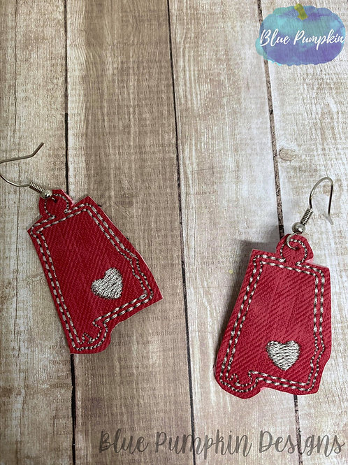 Alabama State Earrings