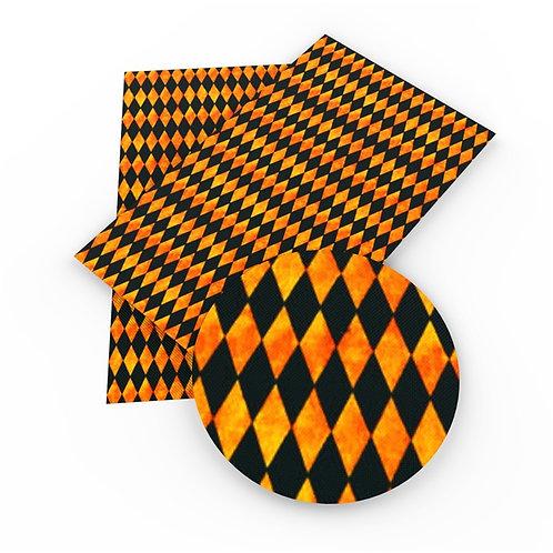 Black and Orange Diamonds Embroidery Vinyl