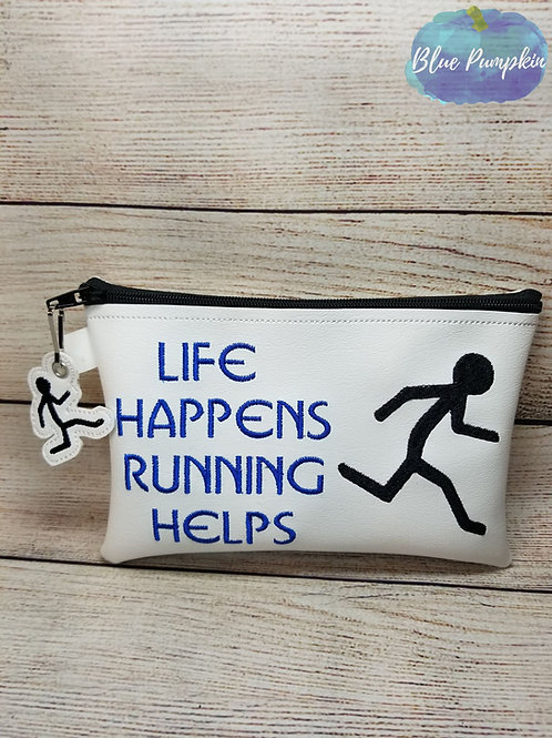 Life Happens Running Helps TH Zipper Bag Design