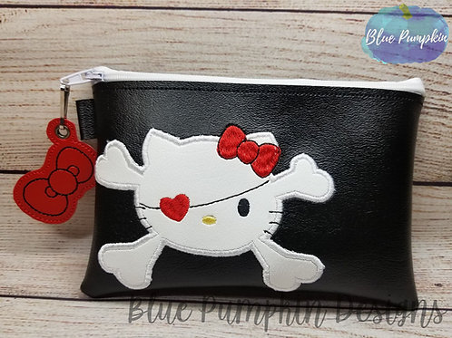 APPLIQUE Pirate Kitty ITH Zipper Bag Design