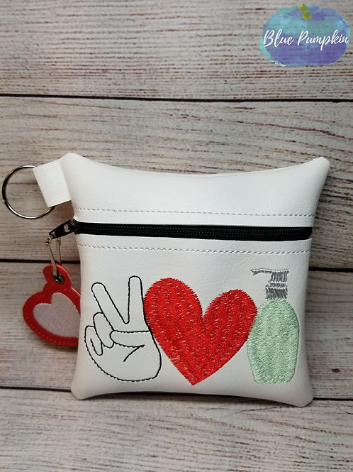 Peace Love Sanitize  ITH Bag Design