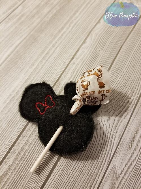 Girl Mouse Lollipop Vday Holder