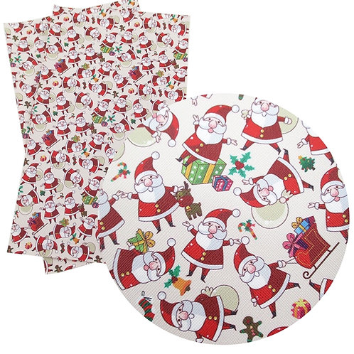 Santas with Gifts Embroidery Vinyl