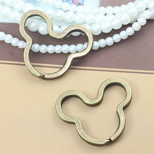 Bronze Mouse Head Split Ring