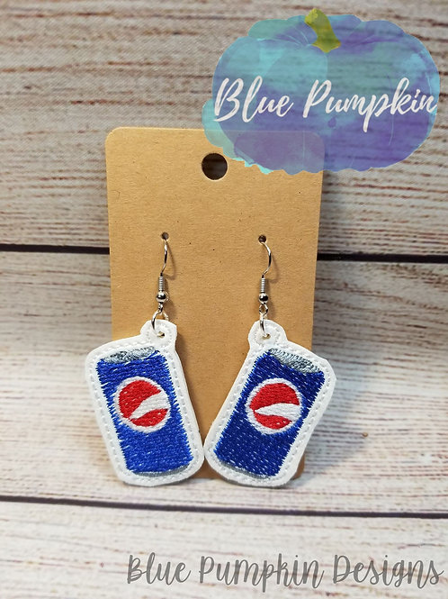 Blue Soda Can Earrings