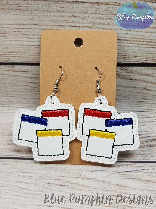 Property Game Pieces Earrings