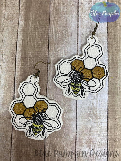 Bee Honey Comb Earrings