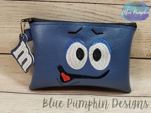 6x10 Blue Candy ITH Zipper Bag Design