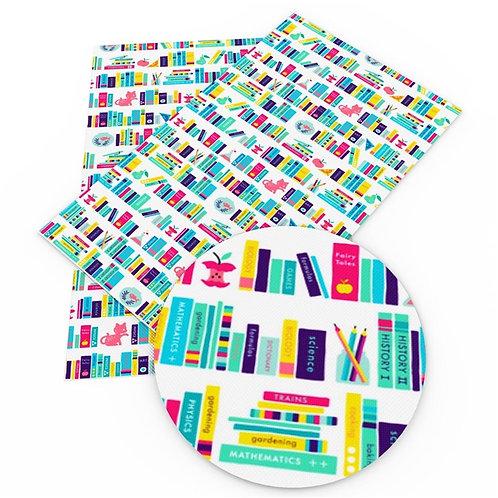 Bright Academic Books Print Embroidery Vinyl