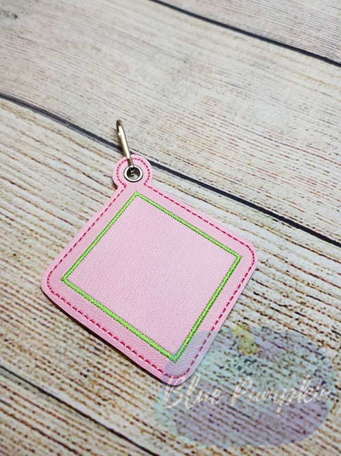 Square Minimalist ITH Zipper Pull