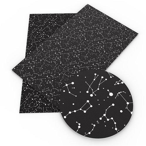 Black w white Constellations  Embroidery Vinyl