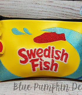 Candy Fish ITH Zipper Bag Design