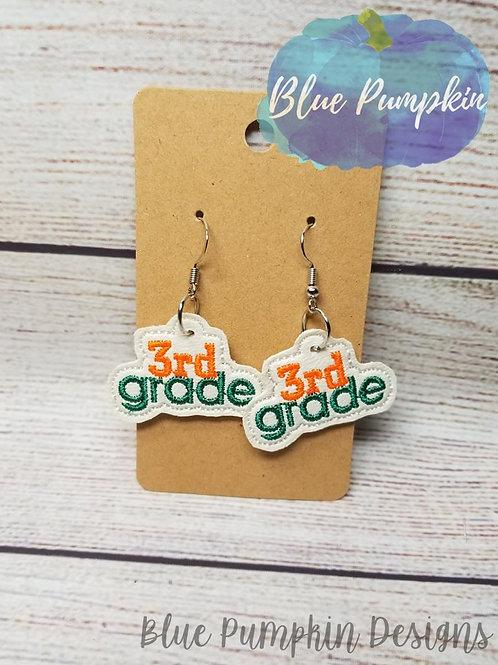 3rd Grader Earrings