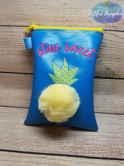 3d Stay Sweet Pineapple ITH Zipper Bag Design