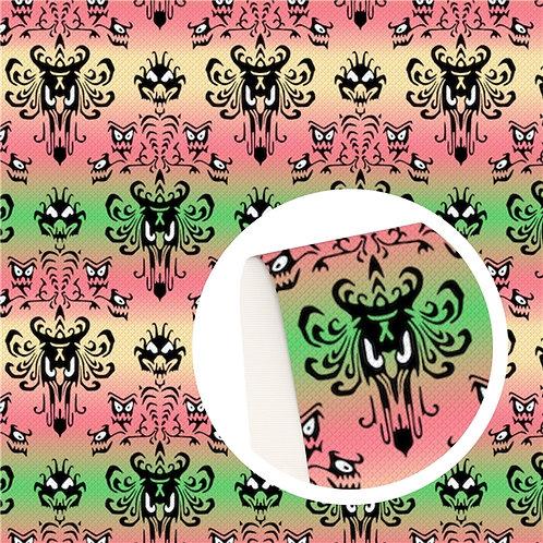 Pastel Haunted Print Embroidery Vinyl
