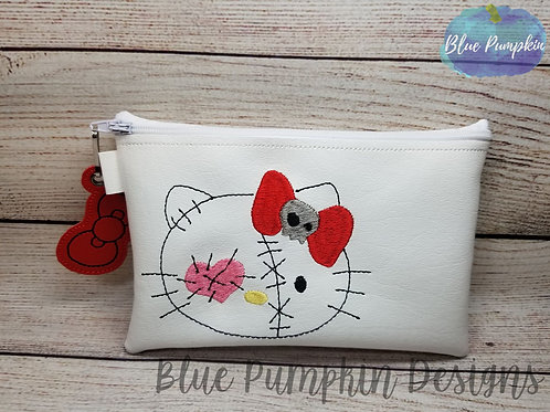 Simple VooDoo Kitty ITH Zipper Bag Design