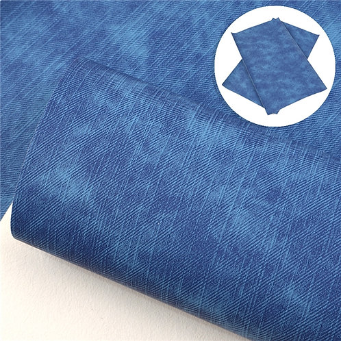 Bright Blue Cowboy Embroidery Vinyl