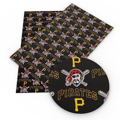 Black Pirates Print Embroidery Vinyl