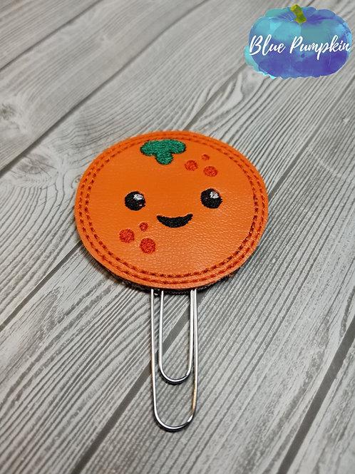 Orange Paper Clip Toppers
