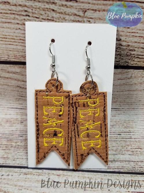 Peace Pennant  Earrings