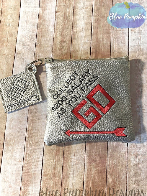 Pass GO 5x5 ITH Zipper Bag Design