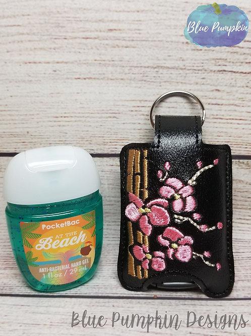 Bamboo Hand Sanitizer Holder