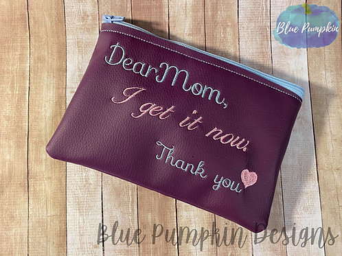 Dear Mom ITH Bag Design